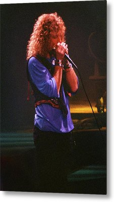 Robert Plant-88-harmonica-3191 Metal Print by Gary Gingrich Galleries