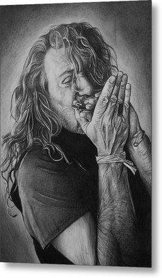 Robert Plant Metal Print by Steve Hunter