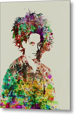 Robert Smith Cure 2 Metal Print by Naxart Studio