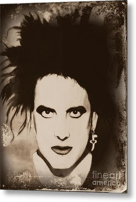 Robert Smith The Cure Metal Print