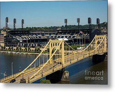 Roberto Clemente Bridge And Pnc Park Pittsburgh Pennsylvania Metal Print