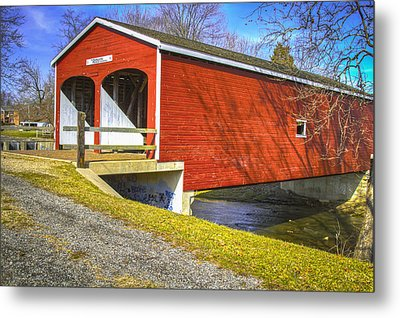 Roberts Covered Bridge Metal Print