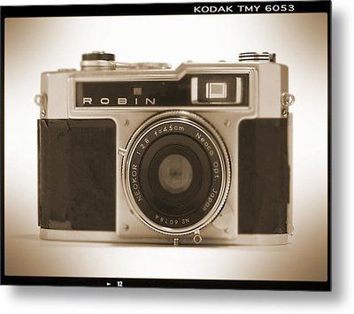 Robin 35mm Rangefinder Camera Metal Print by Mike McGlothlen