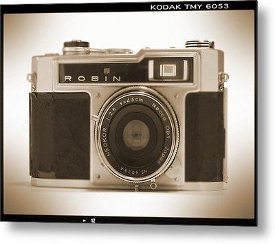 Robin 35mm Rangefinder Camera Metal Print