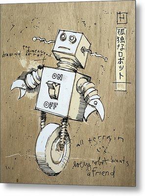 Robot Metal Print by H James Hoff