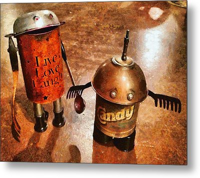 Robot Kids - Da Metal Print by Leonardo Digenio