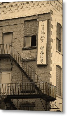 Metal Print featuring the photograph Rochester, New York - Jimmy Mac's Bar 2 Sepia by Frank Romeo