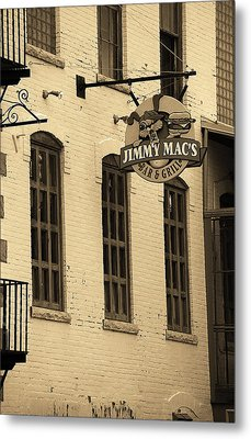 Metal Print featuring the photograph Rochester, New York - Jimmy Mac's Bar 3 Sepia by Frank Romeo