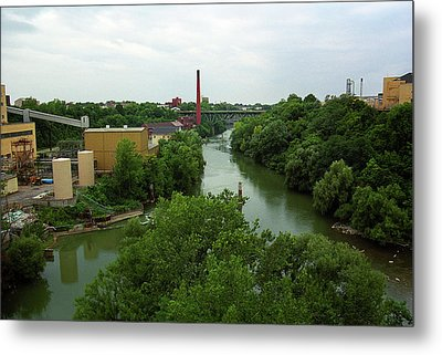 Rochester, Ny - Genesee River 2005 Metal Print by Frank Romeo