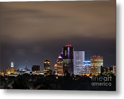 Rochester, Ny Lit Metal Print
