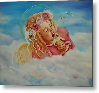 Metal Print featuring the painting Rock And Roll Angel by Joni McPherson
