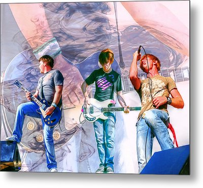 Rock And Roll Band Version 1 Metal Print by Randy Steele