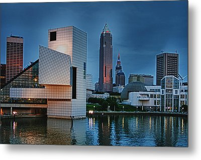 Rock And Roll Hall Of Fame And Museum Metal Print by Richard Gregurich