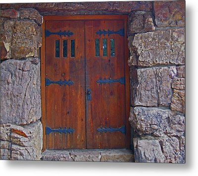 Metal Print featuring the photograph Rock Building Doors by Tammy Sutherland
