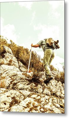 Rock Climbing Mountaineer Metal Print by Jorgo Photography - Wall Art Gallery