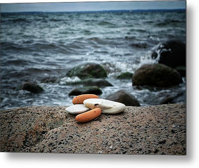 Metal Print featuring the photograph Rock Collection by Karen Stahlros
