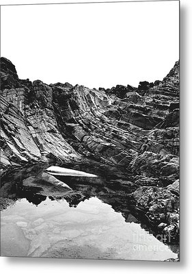 Metal Print featuring the photograph Rock - Detail by Rebecca Harman