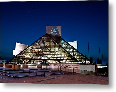 Rock Hall At Night Metal Print by At Lands End Photography