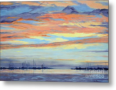 Rock Hall Sunset Metal Print by Cindy Roesinger