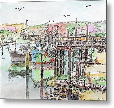 Rock Harbor, Cape Cod, Massachusetts Metal Print