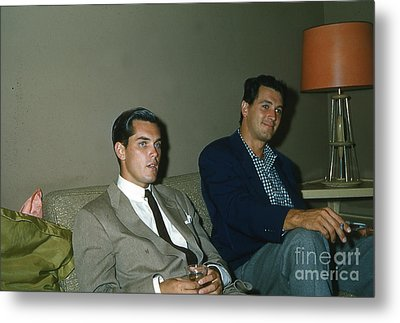 Rock Hudson And  Jeffery Hunter  Metal Print