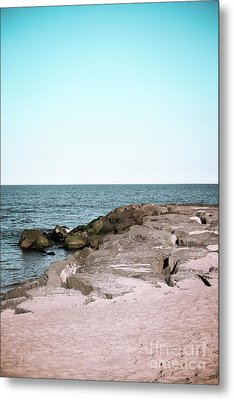 Metal Print featuring the photograph Rock Jetty by Colleen Kammerer