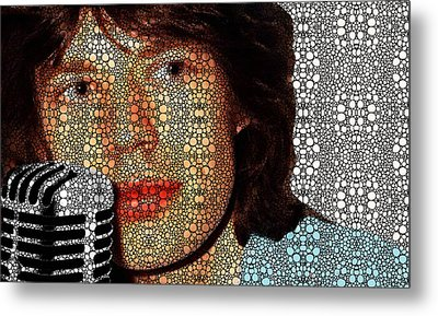 Rock Legend - Mick Jagger Tribute Metal Print
