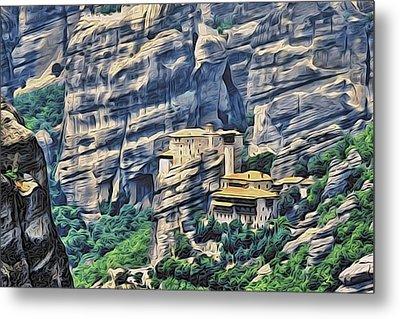 Rock Monastery Metal Print
