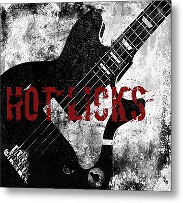 Rock N Roll Guitar Metal Print by Mindy Sommers