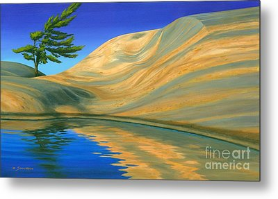 Metal Print featuring the painting Rock Of Ages by Michael Swanson