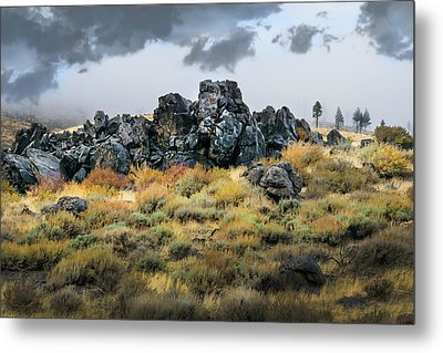Metal Print featuring the photograph Rock Outcrop by Frank Wilson