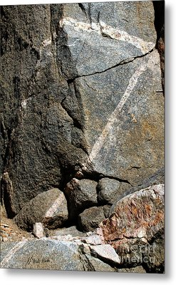 Rock Patterns-signed-#9753 Metal Print