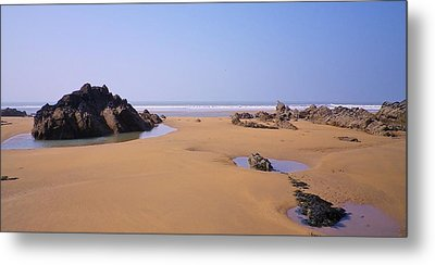 Rock Pools Metal Print