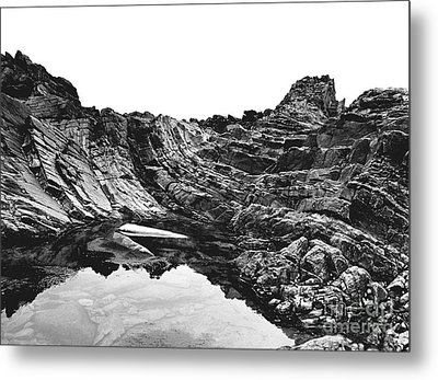 Metal Print featuring the photograph Rock by Rebecca Harman