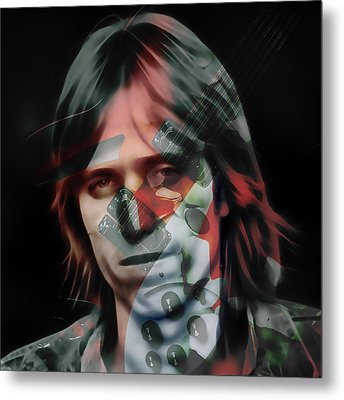 Metal Print featuring the mixed media Rock Star Tom Petty by Marvin Blaine