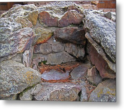 Metal Print featuring the photograph Rock Water Fountain by Tammy Sutherland