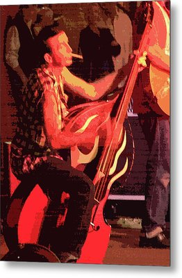Rockabilly Bass Player Metal Print by Andy Jeter