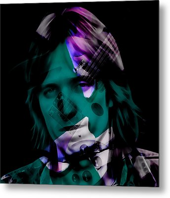 Metal Print featuring the mixed media Rocker Tom Petty by Marvin Blaine