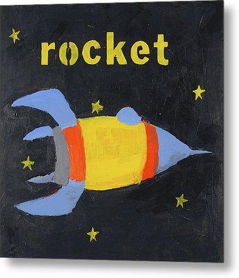 Rocket Metal Print by Laurie Breen