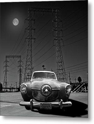 Rocket Ship To The Moon Metal Print by Larry Butterworth