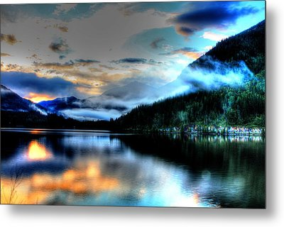 Rockie Mountain Mist Metal Print
