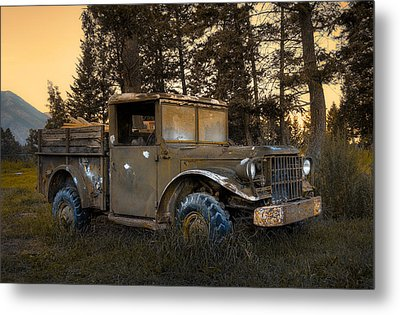 Rockies Transport Metal Print by Wayne Sherriff