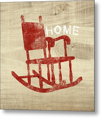 Rocking Chair Home- Art By Linda Woods Metal Print by Linda Woods