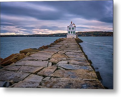 Rockland Harbor Breakwater Light Metal Print
