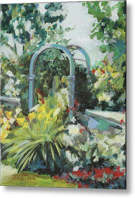 Rockport Garden Gate Metal Print