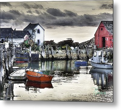 Rockport Harbor Early Morning Metal Print by Tom Cameron