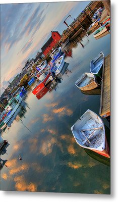 Metal Print featuring the photograph Rockport Harbor Motif #1  by Joann Vitali