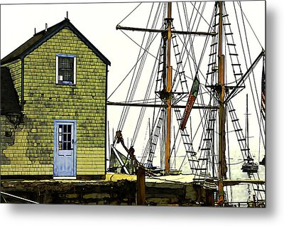 Rockport Harbor Metal Print by Tom Cameron