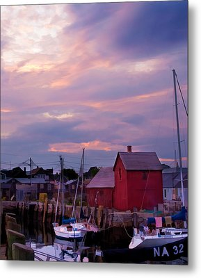 Metal Print featuring the photograph Rockport Sunset Over Motif #1 by Jeff Folger