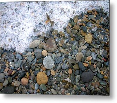 Rocks And Pebbles Metal Print by Stephanie Troxell